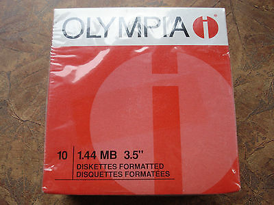 10 Pack 1.44MB 3.5 2HD Diskettes Formatted Olympia