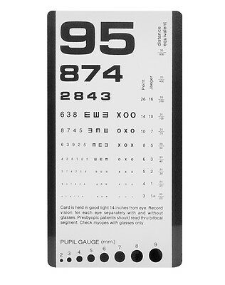Pocket Eye Chart- 3908- 16cm x 9cm.