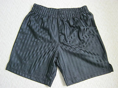 Boys George Black School Football Shorts Age 11 - 12