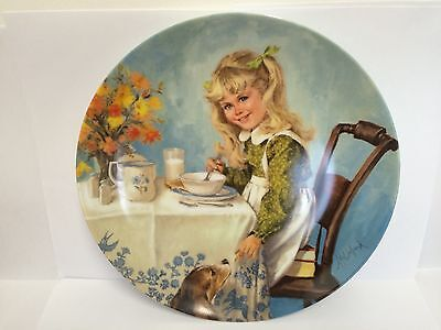 Reco International 'Breakfast' by John McClelland, Collector's plate, 1986