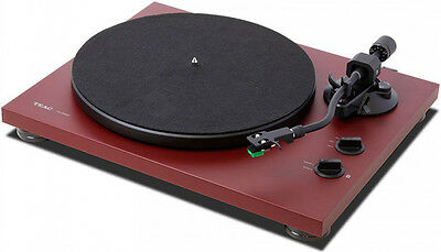 TEAC TN-400S Belt-Drive Turntable + S-Shaped Tone Arm (Red Bordeaux) NEW!!!