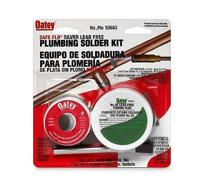 Oatey Safe-Flo Wire Solder Kit, .25 lb, Solid, Silver Gray