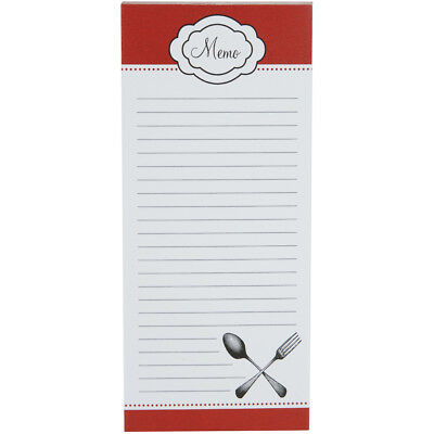 Memo Pad 80 Sheets Red Cutlery 1219-514
