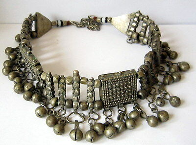 EXTREMELY RARE VINTAGE 18/19th c. SILVER NECKLACE, HIGH QUALITY # 407