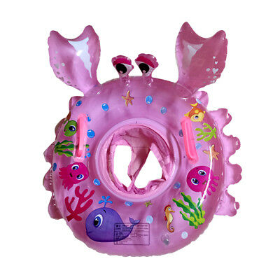 Inflatable Toddler Swimming Pool Swim Seat Float Boat Ring Water Toy - Crab
