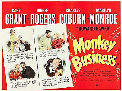"""Monkey Business 16"""" x 12"""" Reproduction Movie Poster Photograph"""