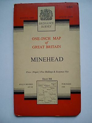 One-Inch 7th Series Ordnance Survey Map Sheet 164 Minehead