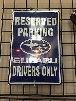 "Subaru Genuine ""Reserved Parking, Subaru Drivers Only"" Street Sign"