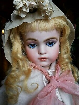 """SHOW STOPPING 29"""" BRU JNE 16 French Bebe doll in antique clothes by Colleen"""
