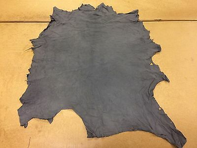 6 Sq Ft Grey Suede Skin / Hide Genuine Quality Leather Suede