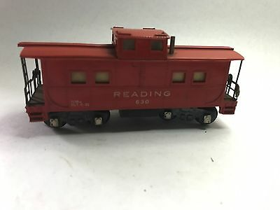 American Flyer Red Lighted Caboose Reading #630 A.C. Gilbert Company Not Tested