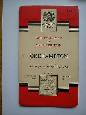 One-Inch 7th Series Ordnance Survey Map Sheet 175 Okehampton