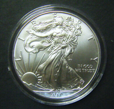 2011 1oz Silver American Eagle Bullion coin .999 Fine One dollar BU uncirculated