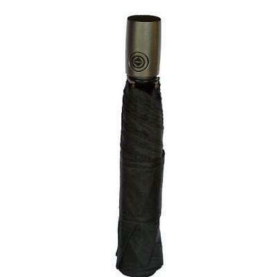 Totes Auto Open Auto Close Umbrella w/ Grey Handle (Black) New