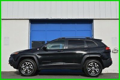 2016 Jeep Cherokee Trailhawk 4WD 4X4 3.2L Nav Rear Camera Loaded Save Repairable Rebuildable Salvage Lot Drives Great Project Builder Fixer Easy Fix
