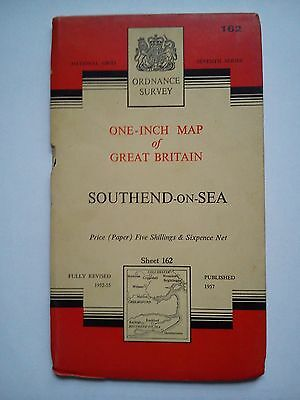 One-Inch 7th Series Ordnance Survey Map Sheet 162 Southend-on-Sea