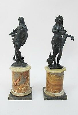 Rare Museum-Quality Pair of 17th C. ITALIAN MANNERIST Bronze Sculptures
