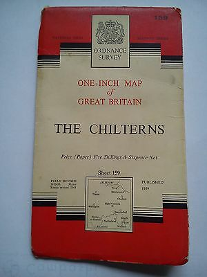 One-Inch 7th Series Ordnance Survey Map Sheet 159 The Chilterns