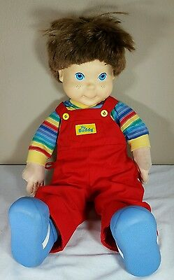 RARE Vtg 1985 My Buddy Boy Doll Outfit Shoes Overalls Hasbro Childs Play Chucky