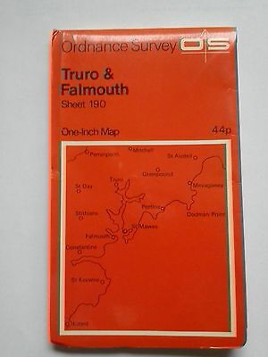 One-Inch 7th Series Ordnance Survey Map Sheet 190 Truro and Falmouth 1971
