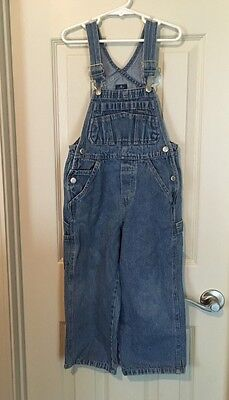 Youth Unisex Old Navy Denim Jeans Overalls Kids Farmer Bibs - Size 4/5