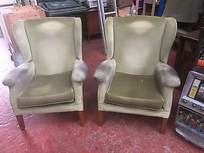 Fireside Chairs Good Quality Similar To Parker Knoll - For Recover - 4 Available