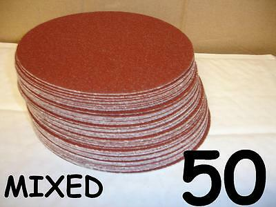 "50  150mm 6"" Self Adhesive Sanding Discs 40 60 80 120 240 320 400 800 Mixed Grit"
