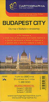 Budapest City Map by Cartographia 9789633526521