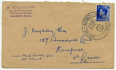 GB 1953 EXHIBITION CANCEL on K.EDWARD 8th 2 1/2d CONSTANTINE STAMP DEALER