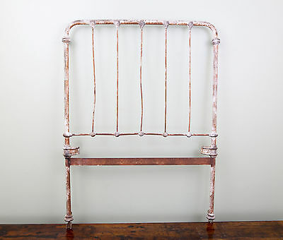 Antique CAST IRON BED HEADBOARD footboard old frame architectural gate vintage