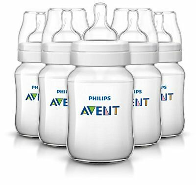 Philips Avent Classic Plus Baby Bottles, 9 Ounce (5 Pack) New