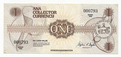 American Numismatic Association Currency 1988