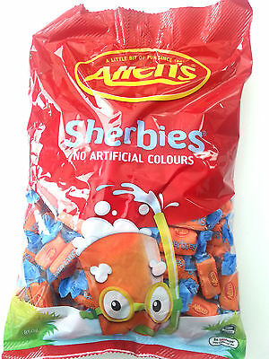 Allen's Sherbies Individually Wrapped Lollies - 850g