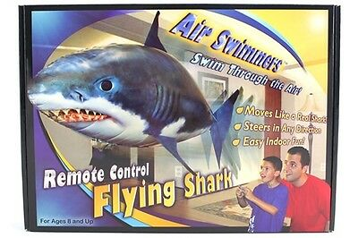 Air Swimmers NEW RC Remote Control Flying SHARK Toy Kids