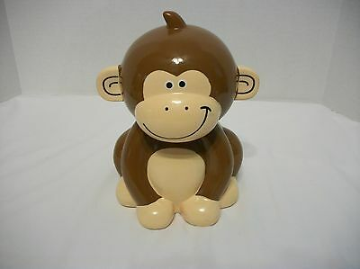 Ceramic Monkey Coin Bank  F.a.b. Starpoint