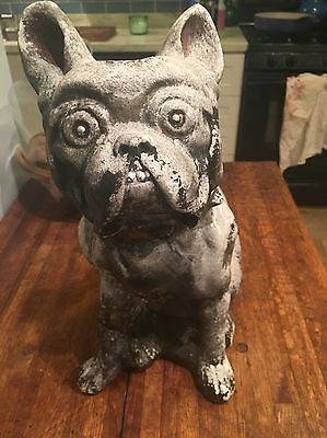 Very Old Ceramic Plaster? Bulldog LAWN ORNAMENT As Seen On American Pickers!