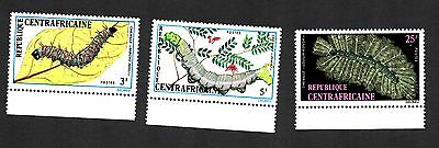 Central African Republic 1973 Caterpillar Insect Butterfly  MNH #190-192
