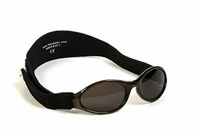 Adventure BanZ Baby Sunglasses, Midnight Black, Infants 0 2 Years New