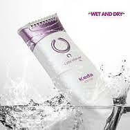 keda lady shave wet and dry shaver cordless battery operated