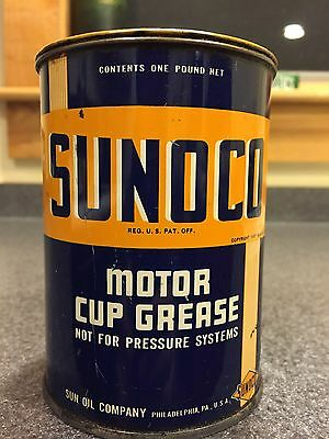 Antique Vintage Sunoco Cup Grease Can Double Sided 1937 Gas Station