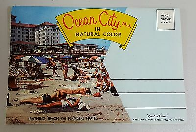 Ocean City Nj New Jersey Photo Views Book Lusterchrome  Fold Out Flanders Hotel