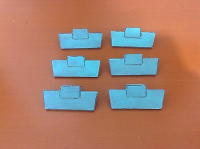 010 VTG Midcentury Handles In Turquoise Wash Set Of 2 Shabby Chic!
