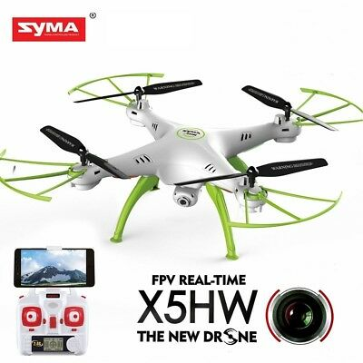 Syma RC Quadcopter Drone Helicopter FPV WIFI HD Camera Live Video Toy X5HW White