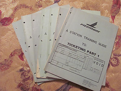 Lot of 7 Piedmont Airlines Training Manuals+ Lot of 31 US Air Newsletters