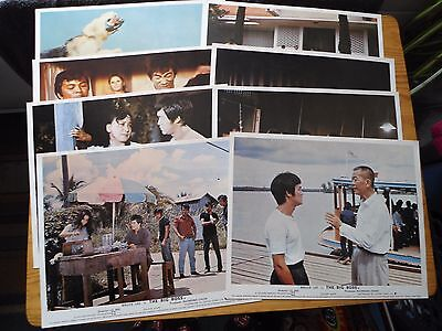 Bruce Lee-The Big Boss Uk Set Of 8 Front Of House/lobby Cards Pro Reproductions