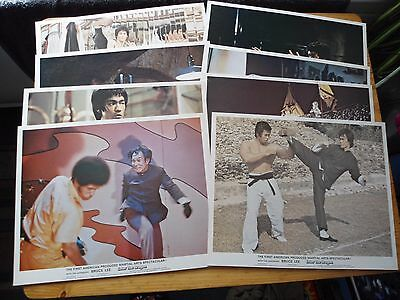 Bruce Lee-Enter The Dragon Uk Set Front Of House /lobby Cards Pro Reproductions