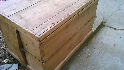 antique pine blanket box coffee table large