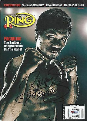 Manny Pacman Pacquiao Signed The Ring Magazine Autographed PSA/DNA COA Dec 2016
