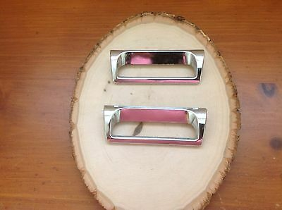 164 VTG MidCentury  Handles In A Silver/chrome Finish. Set Of 2