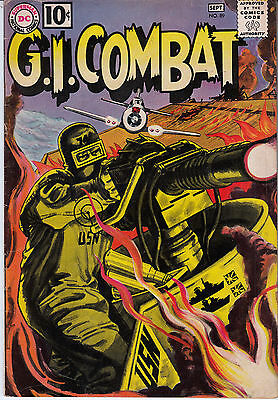G.I. COMBAT #89 (DC, Aug/Sep 1961) F/F+ * 3rd Haunted Tank * Grey-tone cover